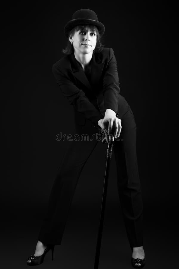 Kabaretaktris royaltyfria bilder