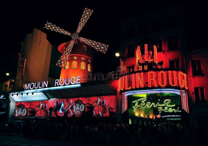 kabaretmoulinrouge royaltyfri bild