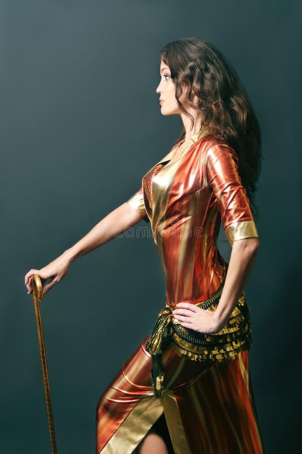 kabaretowa tancerza Oriental kobieta zdjęcie stock