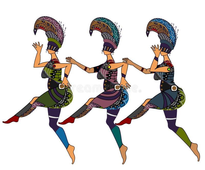 kabaretowy taniec ilustracji