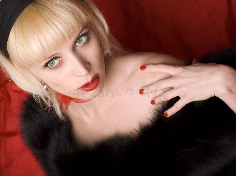 Kabarett blond lizenzfreie stockfotografie