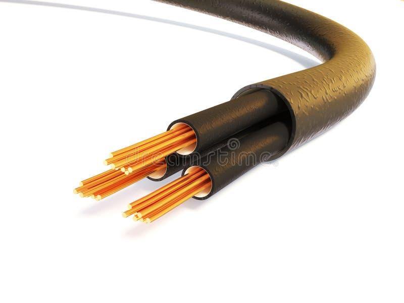 kabel stock illustrationer