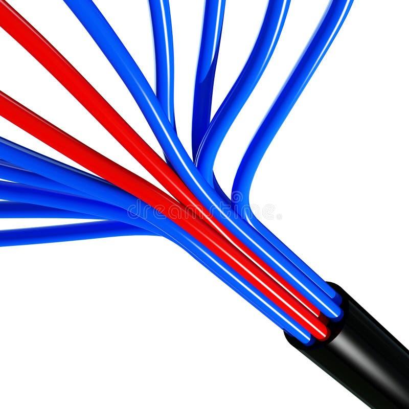 kabel 3 d obraz stock