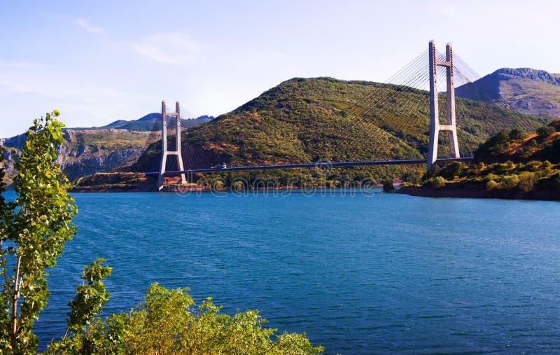 Kabel-bliven bro royaltyfri foto