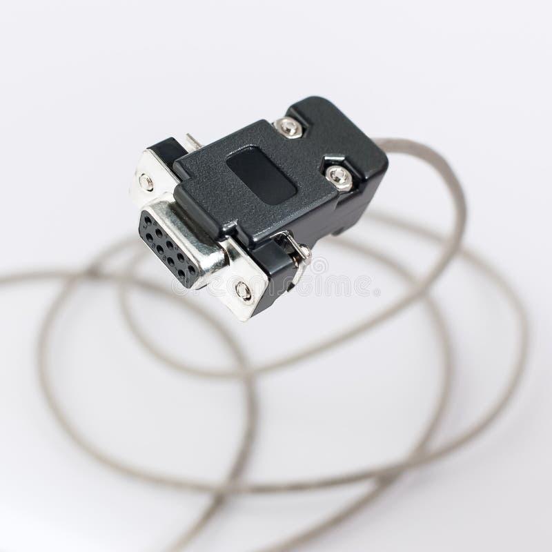 Kabel COM rs232 lizenzfreie stockfotografie
