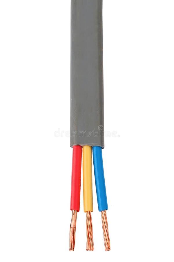 Kabel die in elektro bedradingssysteem wordt gebruikt royalty-vrije stock afbeelding