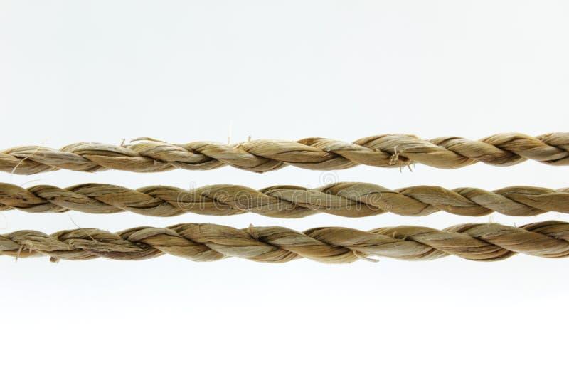 Kabel en geknoopte kabel royalty-vrije stock foto's
