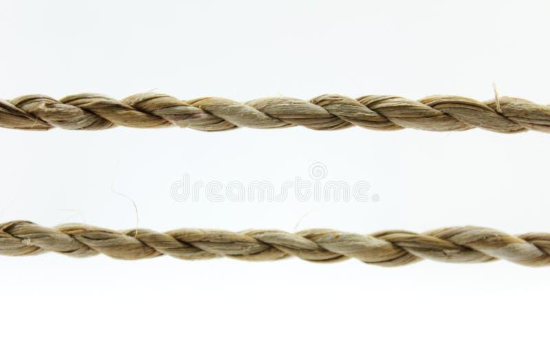 Kabel en geknoopte kabel royalty-vrije stock afbeeldingen