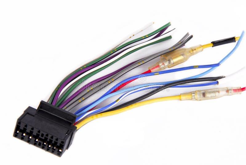 Kabel för bilspelareledningsnät arkivbild