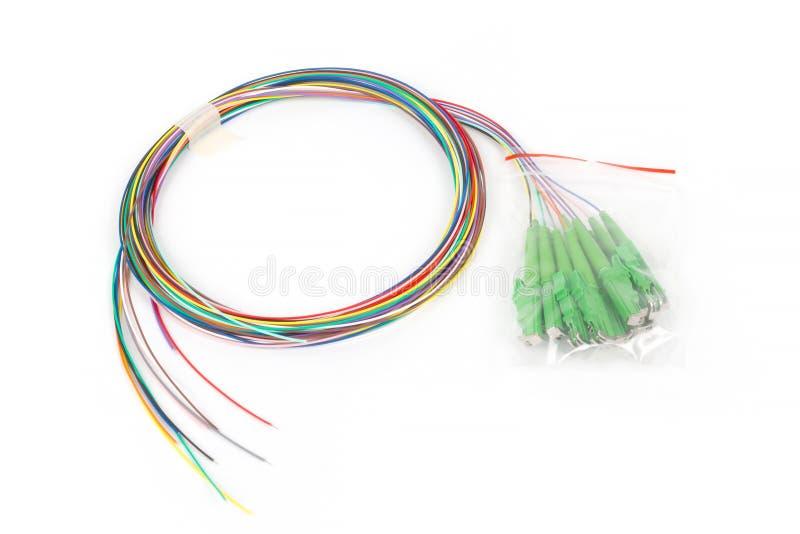Kabel för lapp för enkelt funktionsläge för fiber optisk hybrid- arkivbild