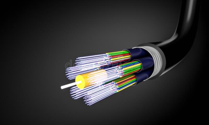 Kabel för optisk fiber vektor illustrationer