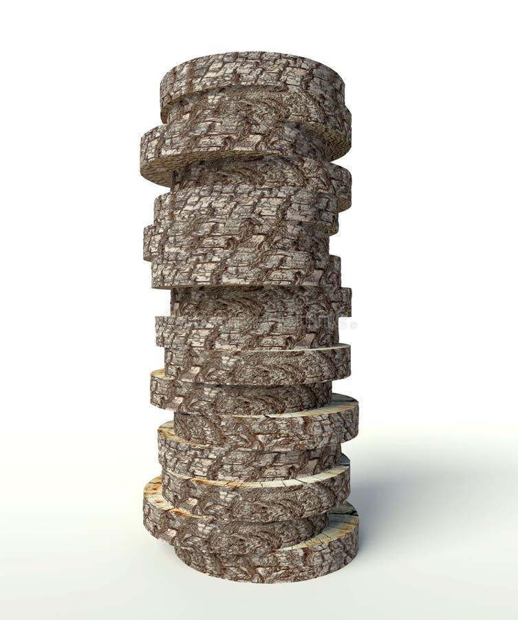 Kabel gebildet von den Baumstümpfen stock abbildung