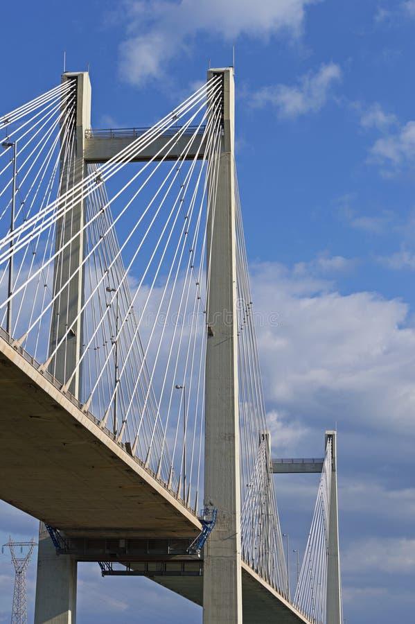 Kabel-gebleven brug stock afbeeldingen