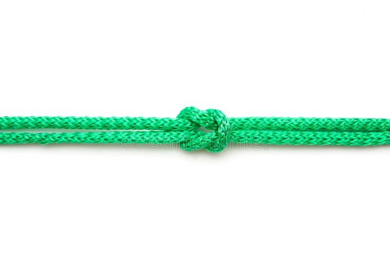 Kabel met mariene knoop royalty-vrije stock fotografie