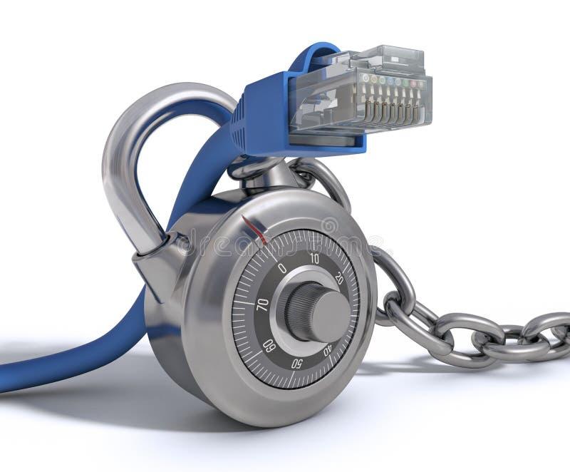 kabel ochraniający rj45 ilustracji
