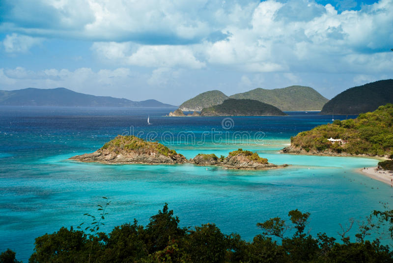 Kabel-Schacht Virgin Islands lizenzfreies stockbild
