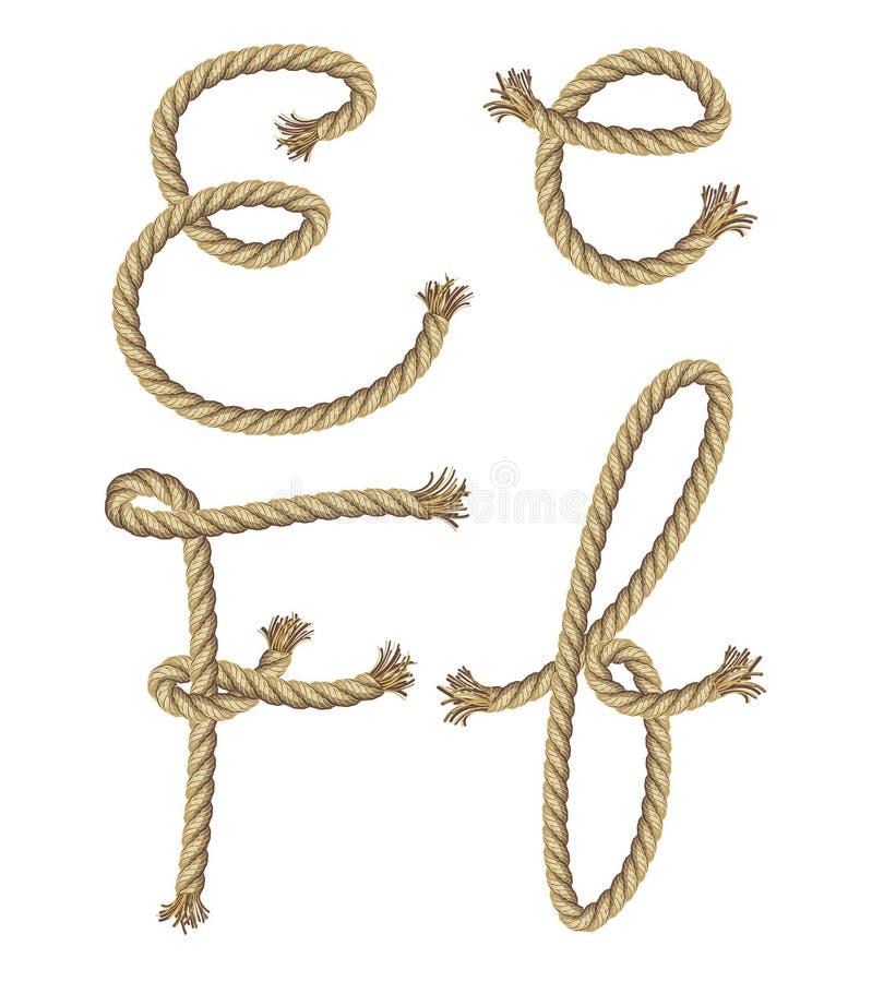 Kabelalfabet.  illustratie royalty-vrije illustratie