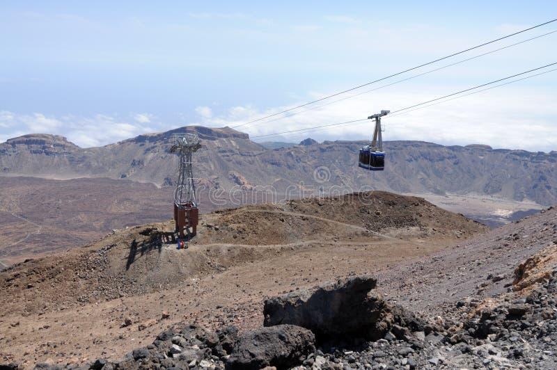 Kabelbaan aan Pico DE Teide, Tenerife stock foto's