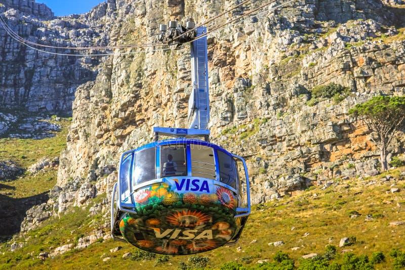 Kabelbaan Kaapstad stock fotografie