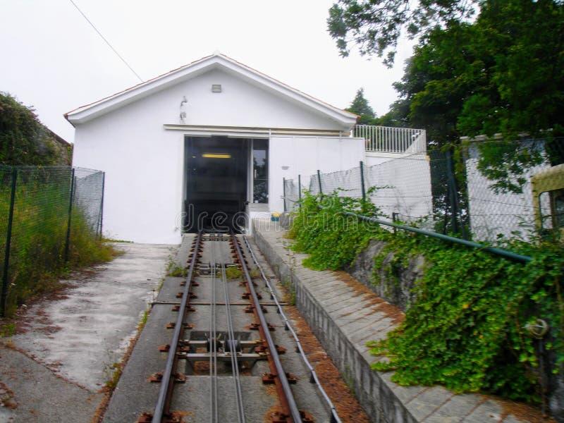 Kabelbaan van Santa Luzia, Viana do Castelo, Portugal stock foto