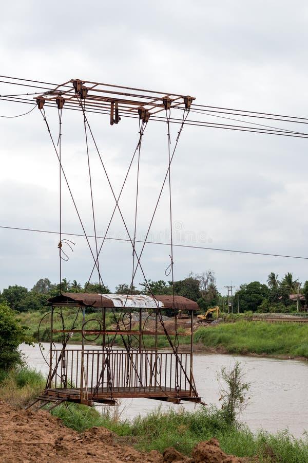 Kabelbil över den gamla floden royaltyfri bild