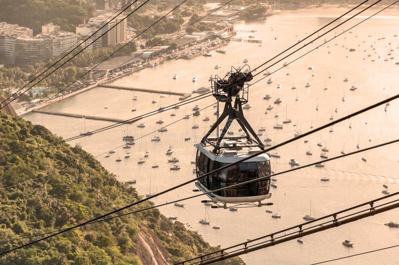 Kabelbil i Rio de Janeiro de vektor illustrationer