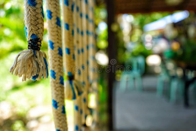 Kabeldecoratie in tuin royalty-vrije stock foto's