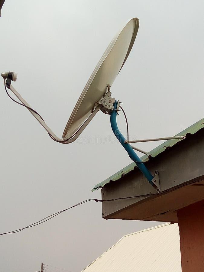 Kabelfernsehen-Mast herein stockfoto