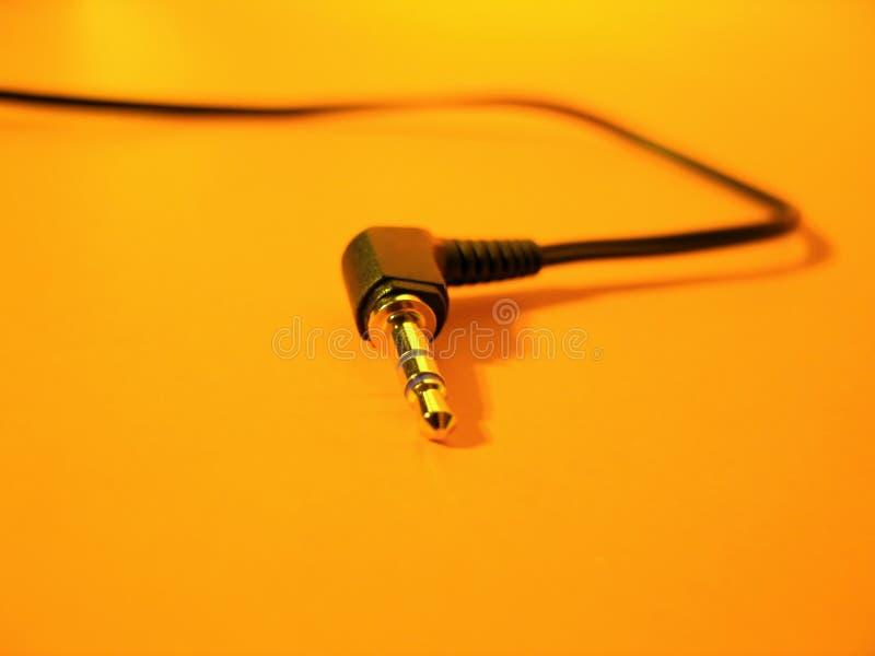 Kabelheadphone Fotografering för Bildbyråer