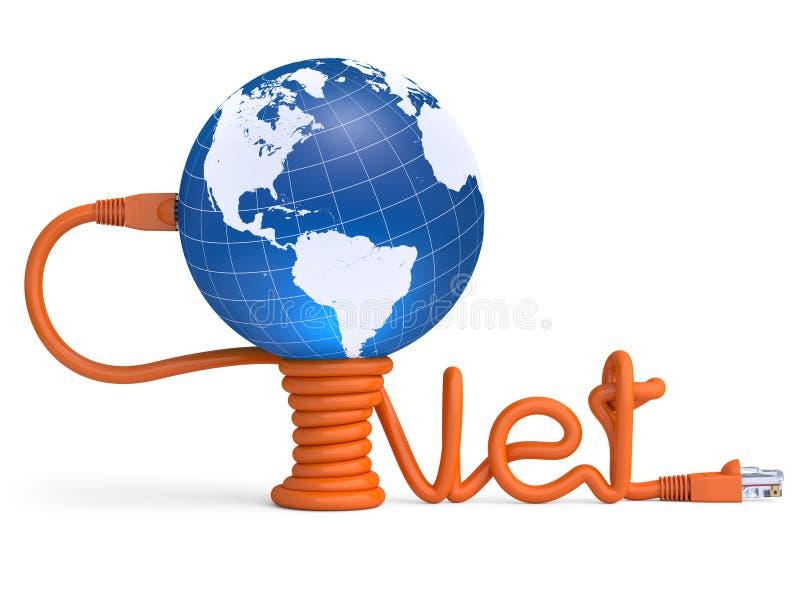 kabelinternet vektor illustrationer