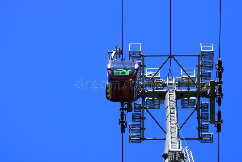 Kabelkabelspoor in Thale in de Harz-Bergen, Duitsland stock foto's