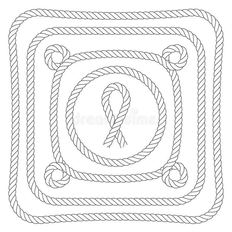 Kabelkaders met lijnen royalty-vrije illustratie