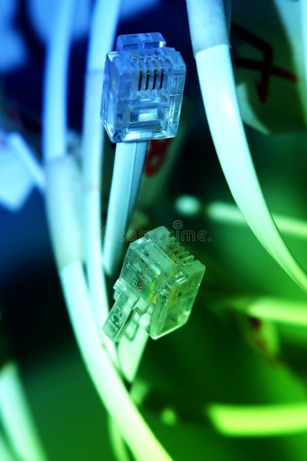 kabelnätverk royaltyfria bilder