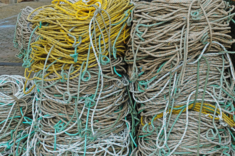 Kabelrollen op Engelse quayside royalty-vrije stock foto