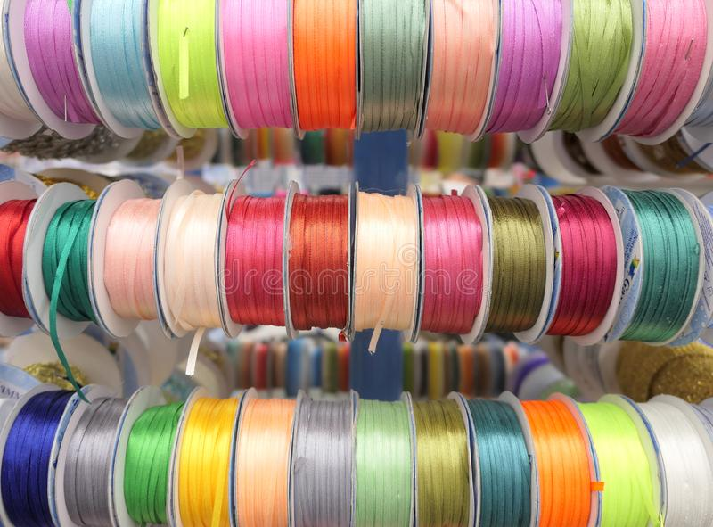 Kabels op spoelen royalty-vrije stock afbeelding
