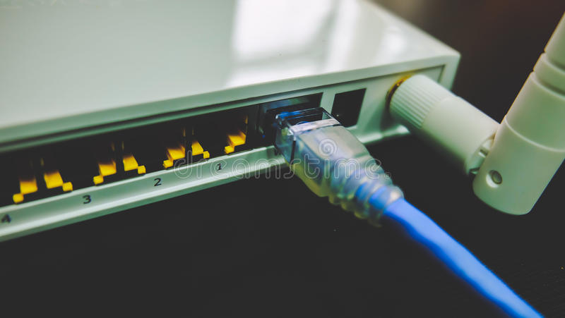 Kabelsstop in de Schakelaar royalty-vrije stock foto