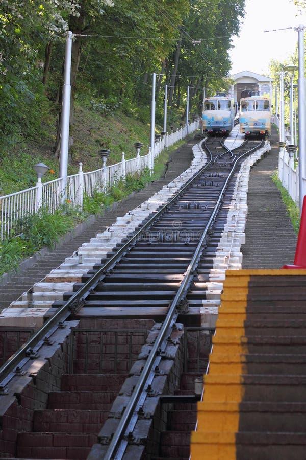 Kabelstadsvervoer stock afbeeldingen
