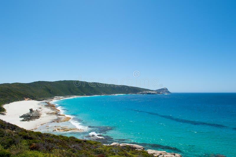 KabelstrandTorndirrup nationalpark Australien arkivbild