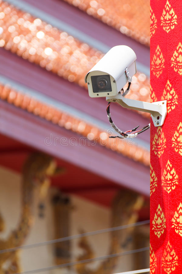Kabeltelevisie-Camera stock afbeelding