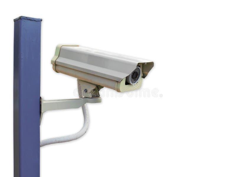 Kabeltelevisie-camera op wit stock afbeelding