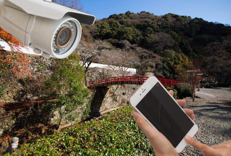 Kabeltelevisie mobiel, tablet, cellphoneverbinding in Japan stock fotografie