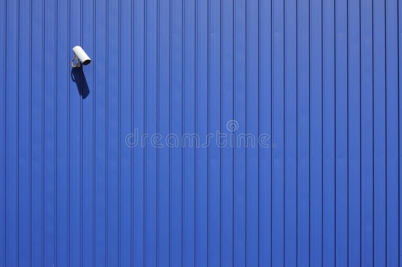 Kabeltelevisie op blauw royalty-vrije stock foto