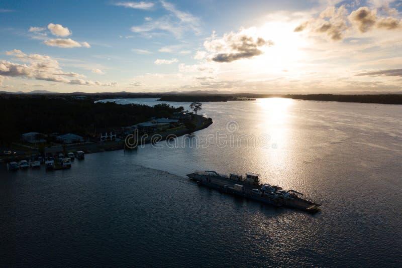 Kabelveerboot op de Hastings-Rivier stock foto's