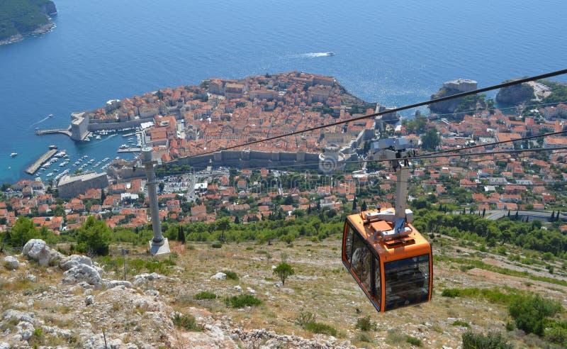 Kabelwagen Dubrovnik royalty-vrije stock afbeeldingen