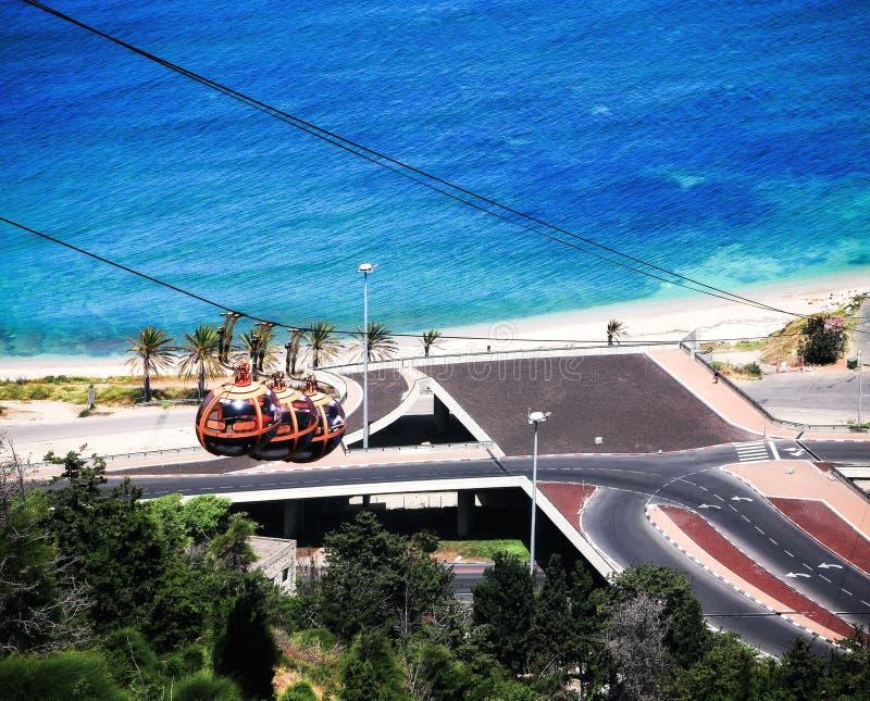 Kabelwagen in Haifa royalty-vrije stock afbeeldingen