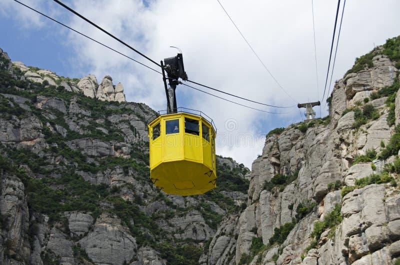 Kabelwagen in Montserrat, Spanje stock fotografie