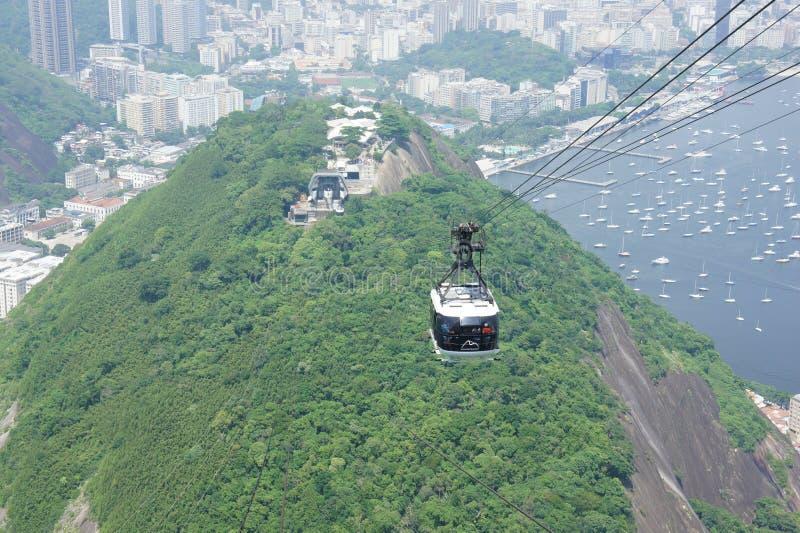 Kabelwagen, Rio de Janeiro stock afbeelding