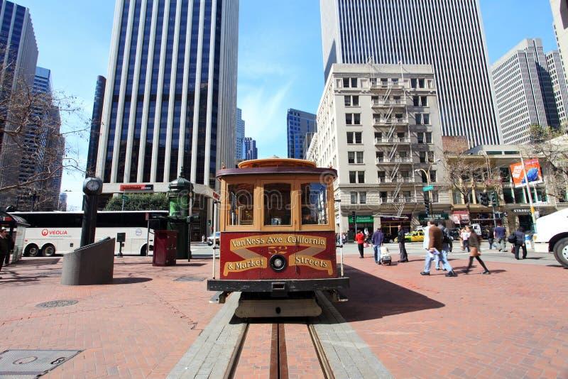 Kabelwagen, San Francisco royalty-vrije stock afbeelding