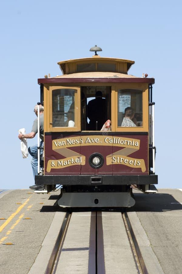 Kabelwagen in San Francisco stock foto's