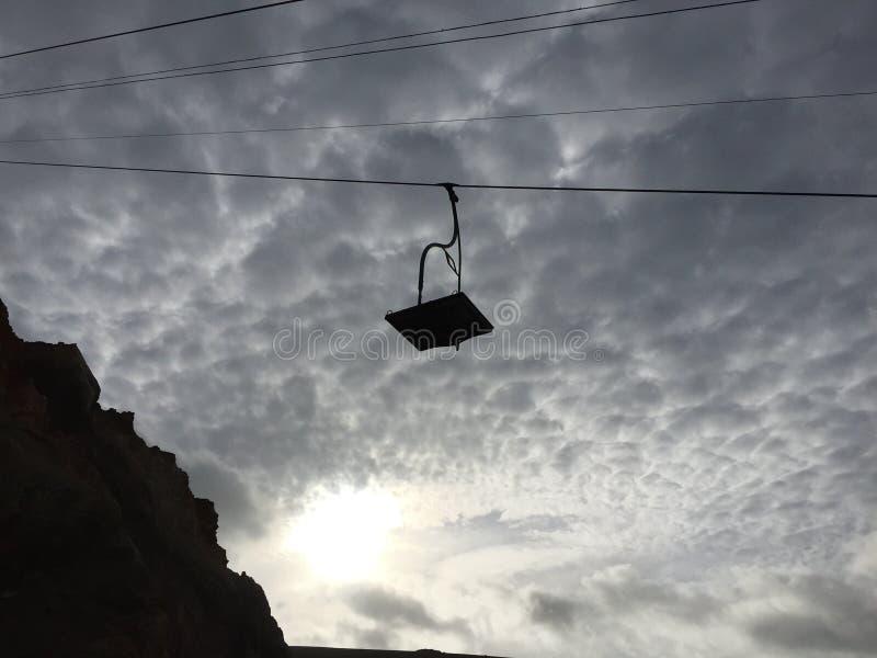 Kabelwagen verlaten eiland van wieght royalty-vrije stock foto's